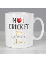 Personalised No.1 Cricket Fan Mug