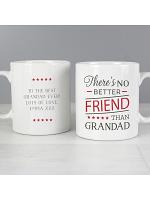 Personalised 'No Better Friend Than Grandad' Mug