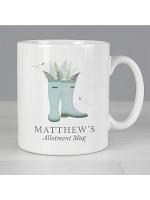 Personalised Blue Wellies Mug