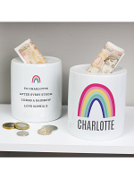 Personalised Rainbow Ceramic Money Box
