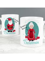 Personalised Mr & Mrs Claus Mug Set