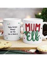 Personalised Mum Elf Mug