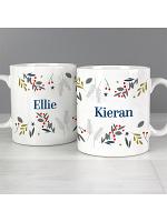 Personalised Festive Christmas Mug Set