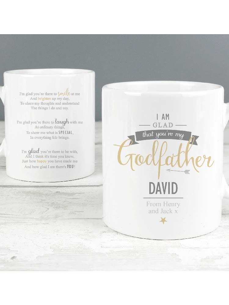 Personalised I Am Glad... Godfather Mug