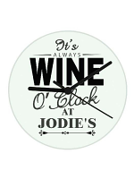 Personalised Wine O'Clock Clock