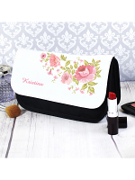 Personalised Pretty Rose Make Up Bag