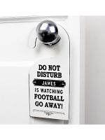 Personalised Black 'Do Not Disturb' Door Hanger