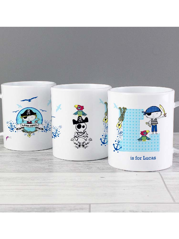 Personalised Pirate Plastic Mug
