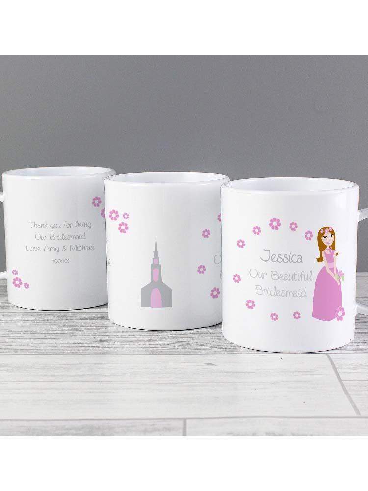 Personalised Fabulous Little Bridesmaid Plastic Mug