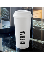 Personalised Name Double Walled Travel Mug