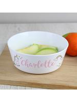 Personalised Baby Unicorn Plastic Bowl