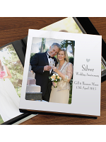"Personalised Decorative Silver Anniversary 6""x4"" Photo Frame Album"