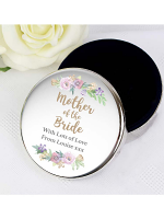Personalised Mother of the Bride 'Floral Watercolour Wedding' Round Trinket Box