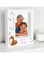 "Personalised Mummy and Me Fox 7""x5"" Box Photo Frame"