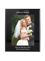 Personalised 7x5 Black Glass Photo Frame