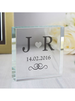 Personalised Silver Monogram Large Crystal Token