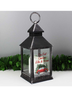 Personalised 'Driving Home For Christmas' Black Lantern