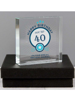Personalised Birthday Large Crystal Token