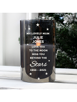 Personalised Miss You Beyond The Stars Black LED Candle