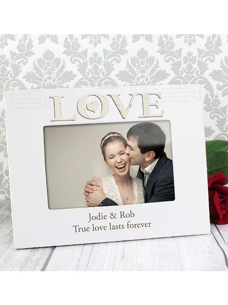 Personalised Love White 6x4 Photo Frame