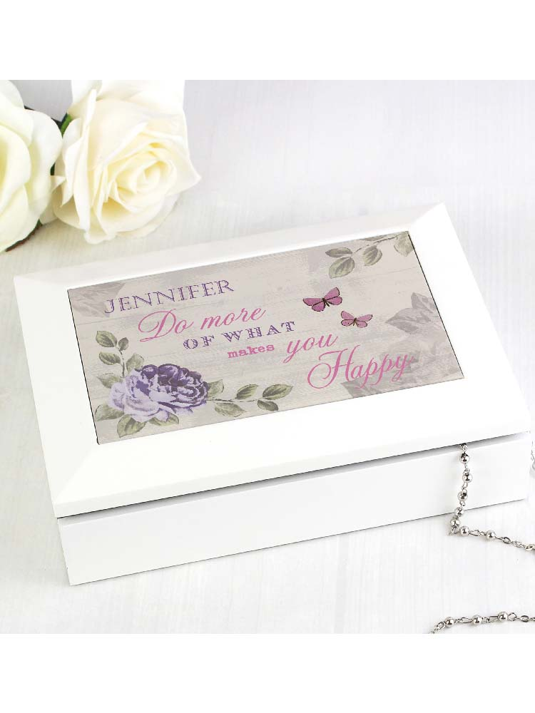 Personalised Secret Garden Jewellery Box