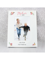 """Personalised Floral Bouquet Mothers Day 6""""x4"""" Photo Frame"""