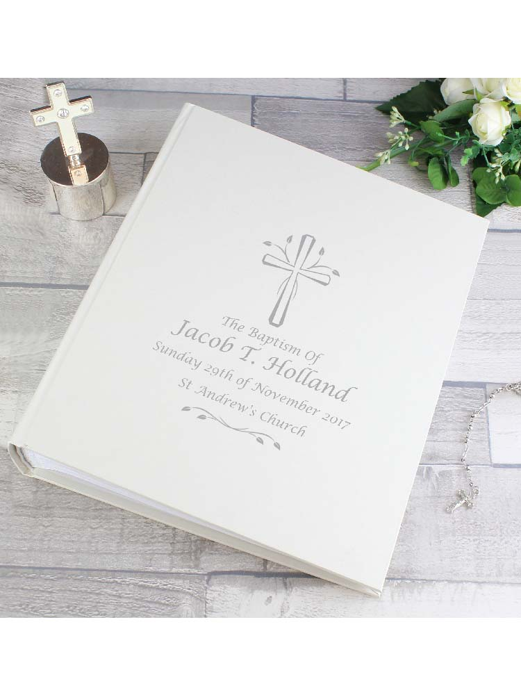 Personalised Silver Cross Album with Sleeves