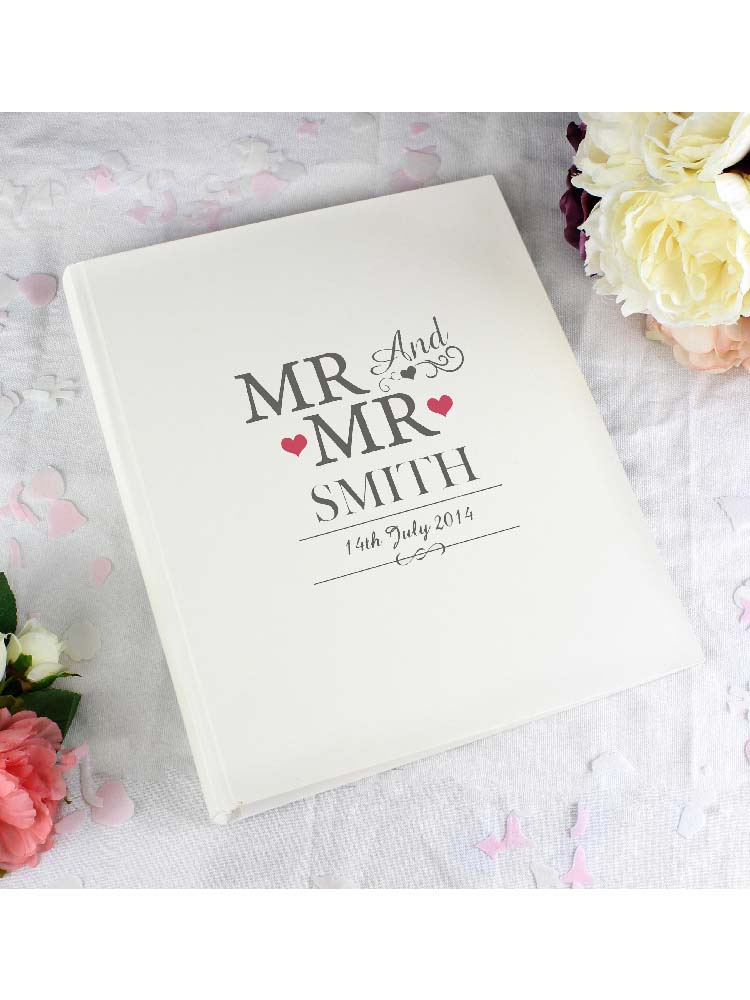Personalised Mr & Mr Traditional Album