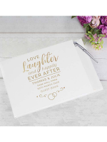 Personalised Happily Ever After Wedding Hardback Guest Book & Pen