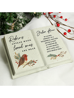 Personalised Robins Appear.. Memorial Book