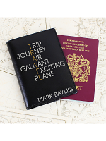 Personalised Travel Black Passport Holder