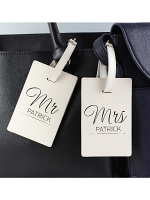 Personalised Couples Classic Cream Luggage Tags
