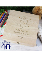 Personalised The Snowman Large Wooden Christmas Eve Box