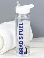Personalised Blue Fuel Island Water Bottle