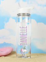 Personalised Unicorn Island Water Bottle