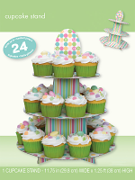 Pastel Baby Shower Cup Cake Stand
