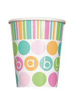 Pastel Baby Shower Cups 9""