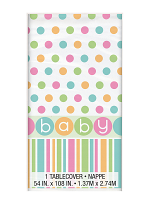 Pastel Baby Shower Table Cover