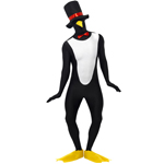 Penguin Second Skin Costume ,Black