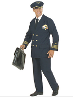 Pilot Costume Heavy Fab (Jacket Pants Hat)
