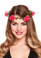 Flower Garland Headband - Pink
