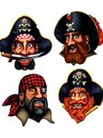 Pirate Crew Cutouts - 4 per pack