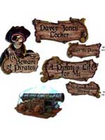 Pirate Cutouts  (4 per pack)