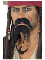 Pirate Facial Hair Set, Brown