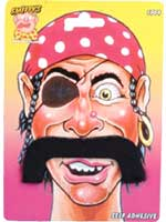 Pirate Moustaches Droopy Style Self-Adhesive (Quantity 1)