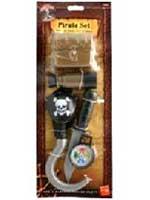 Pirate Set - Hook - Knife - Compass - Patch  (Quantity 1)