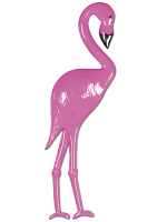 Plastic Flamingo Decoration