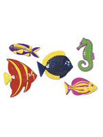 Plastic Tropical Fish Decorations