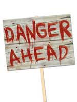 "Plastic Danger Ahead Yard Sign 11"" x 15"""