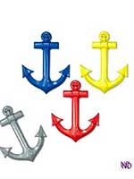 Plastic Ship Anchor Decoration